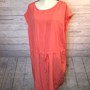 Old Navy 2X Coral Sleeveless Dress Tie Waist